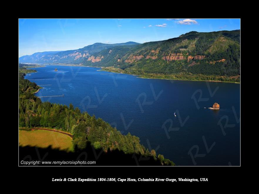 Lewis & Clark Expedition 1804-1806 Cape Horn Columbia River Gorge Washington USA