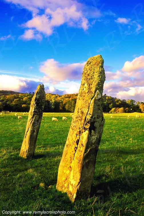 Menhirs Temple Wood Argyll Highlands Écosse Scotland