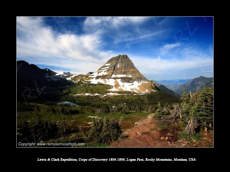 Lewis & Clark Expedition 1804-1806 Logan Pass Glacier National Park Montana USA