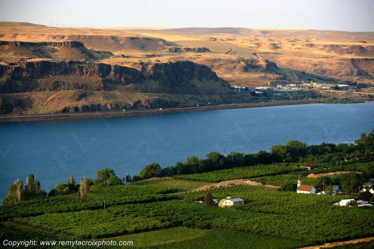 Columbia River vers Maryhill,Washington,USA