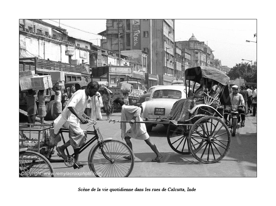 Circulation à Calcutta,Inde