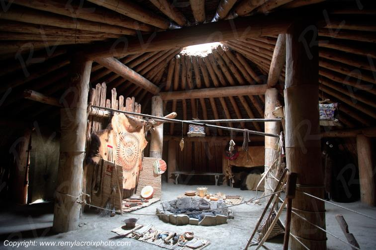 Knife river Indian village,North-Dakota,USA