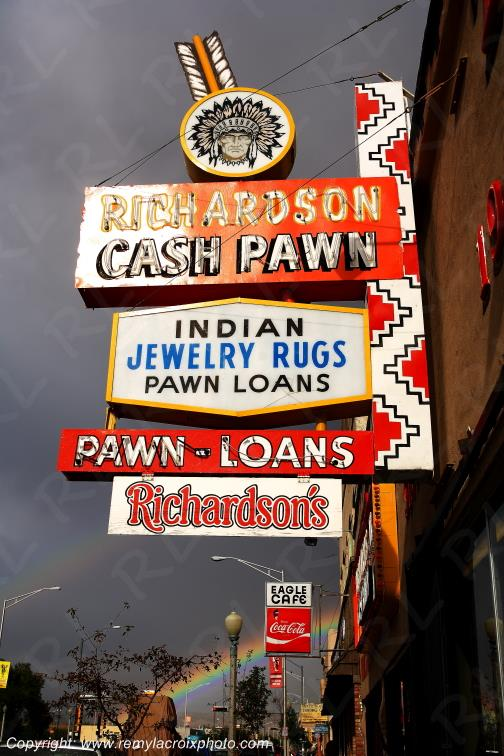 Cash Pawn Signs,Route 66,Gallup,New-Mexico,USA